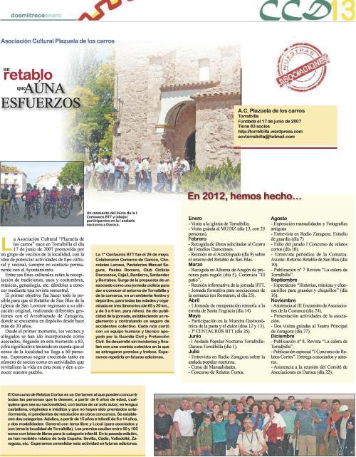 Presentación de la Asociación Cultural Plazuela de los Carros